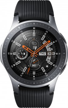 Galaxy Watch 46mm SM-R800NZSAROM Silver Armband Black