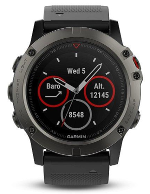 Garmin Fenix5X Sapphire Gray Optic Black