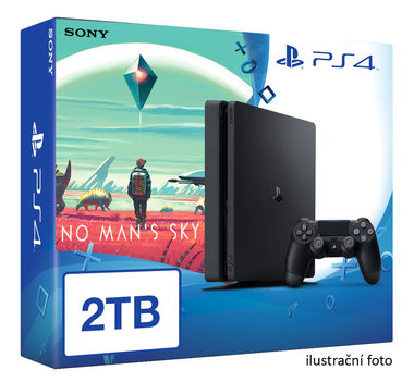 SONY PlayStation 4 - 2TB slim Black CUH-2016 + No Man's Sky