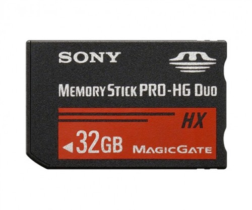 SONY MSHX32B Memory Stick PRO-HX Duo 32 GB, 50MB/s (240Mbps)* Read/Write
