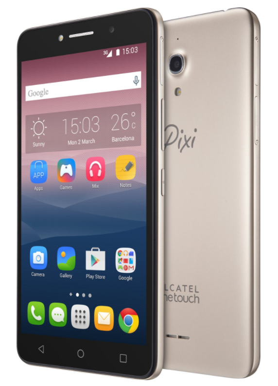 ALCATEL 8050D Pixi 4 8GB Gold EU