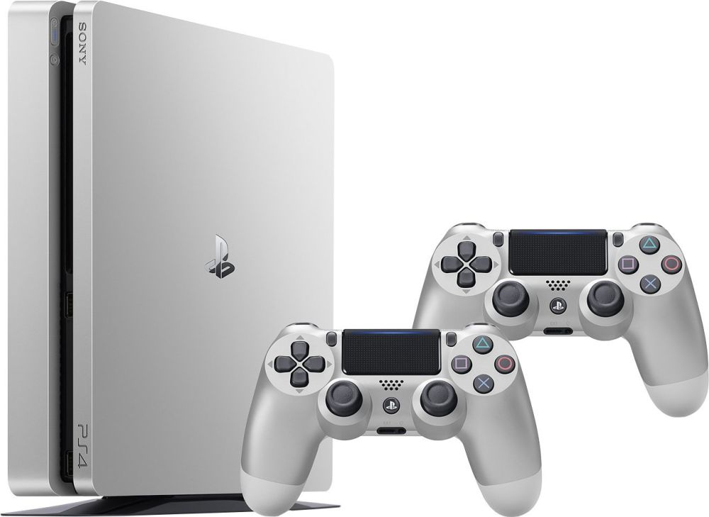 SONY PlayStation 4 - 500GB Slim Silver CUH-2016A + druhý DS4 ovladač silver