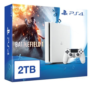 SONY PlayStation 4 - 2TB White CUH-1216A + Battlefield 1