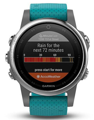 Garmin Fenix5S Silver Optic Blue