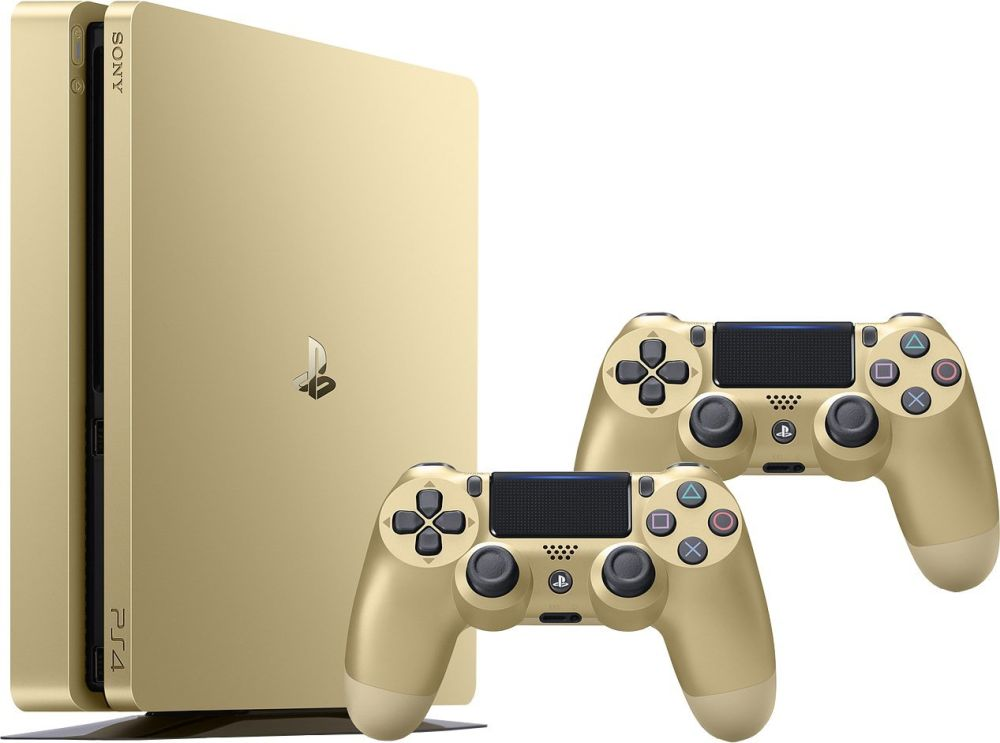 SONY PlayStation 4 - 500GB Slim Gold CUH-2016A + druhý DS4 ovladač gold