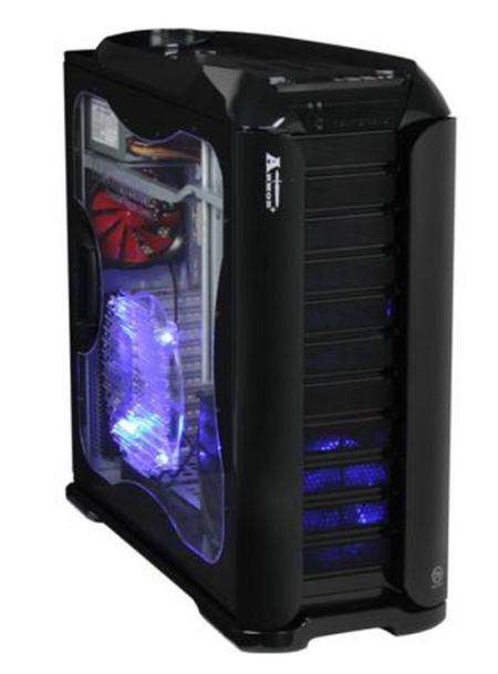 Thermaltake Armor + MX , full tower, black, bez zdroje, ventilátory s LED
