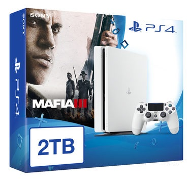 SONY PlayStation 4 - 2TB White CUH-1216A + Mafia III