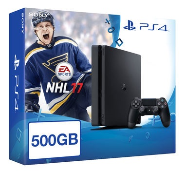 SONY PlayStation 4 - 500GB Slim Black CUH-2016A + NHL 2017
