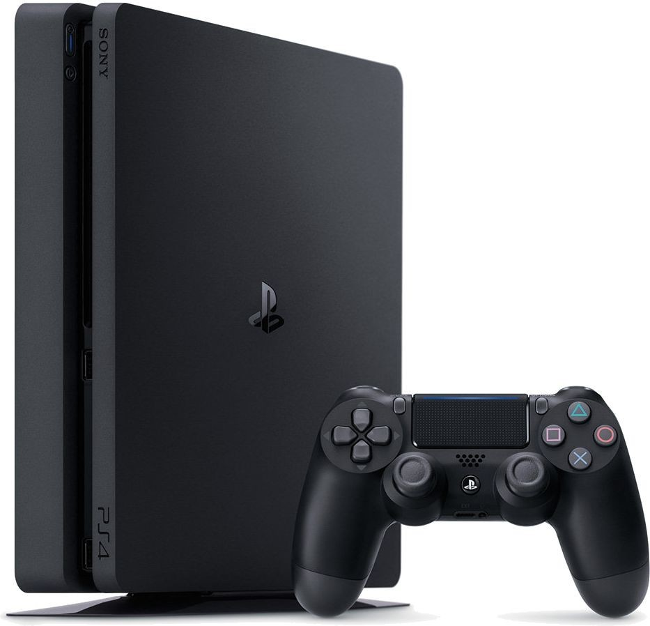 SONY PlayStation 4 - 2TB slim Black CUH-2016 + FIFA 2017 + camera + 2x Dualshock