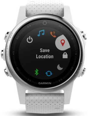 Garmin Fenix5S Silver Optic White
