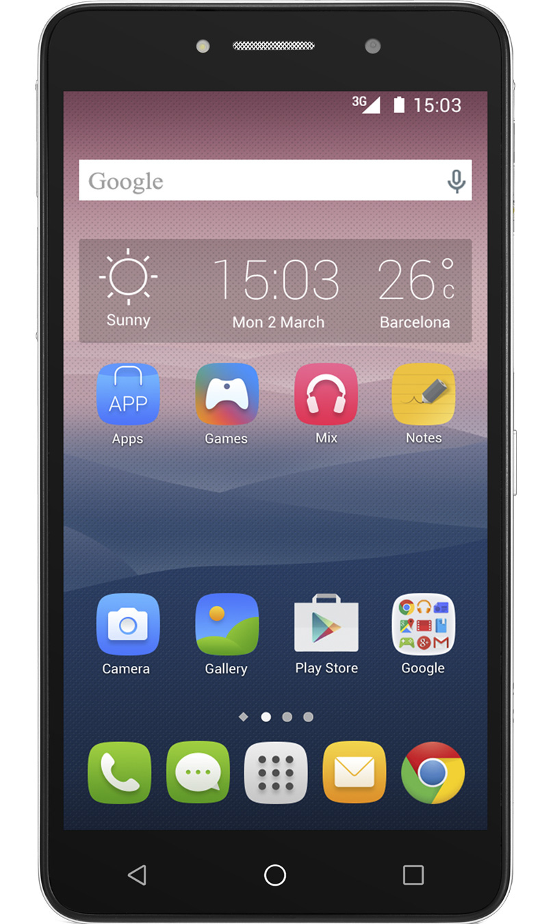 ALCATEL 8050D Pixi 4 8GB Silver EU