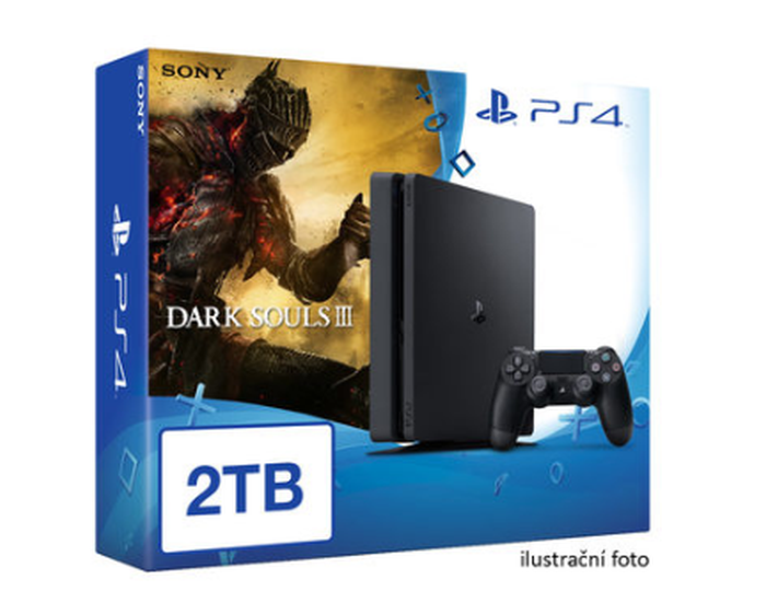 SONY PlayStation 4 - 2TB slim Black CUH-2016 + Dark Souls III