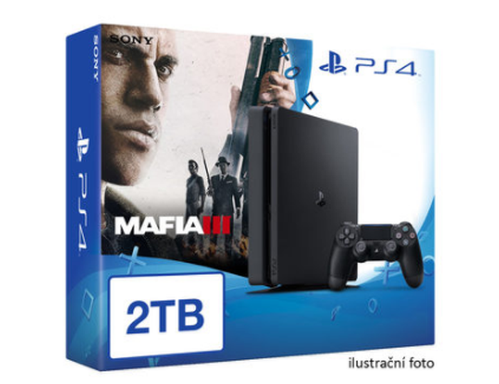 SONY PlayStation 4 - 2TB slim Black CUH-2016 + Mafia III