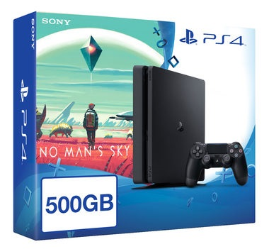 SONY PlayStation 4 - 500GB Slim Black CUH-2016A + No Man's Sky