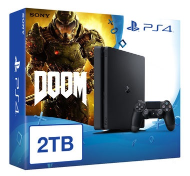 SONY PlayStation 4 - 2TB White CUH-1216A + DOOM